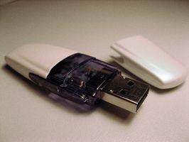 Comment faire pour envoyer l'information à un USB Flash Drive