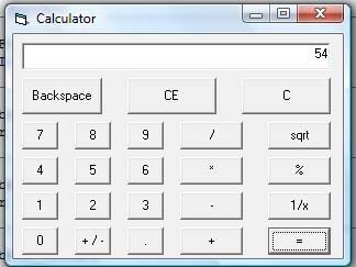 calculatrice scientifique en vb
