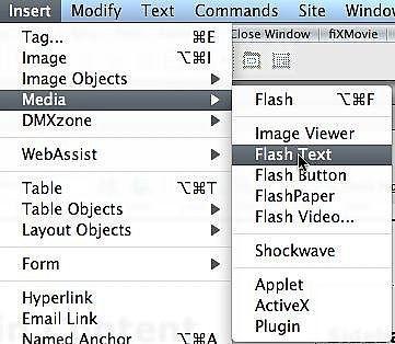 Comment ajouter texte Flash à une page Web avec Dreamweaver CS3