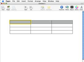Comment construire une base de données Pages Mac