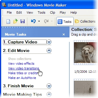 Comment ajouter des transitions dans Windows Movie Maker