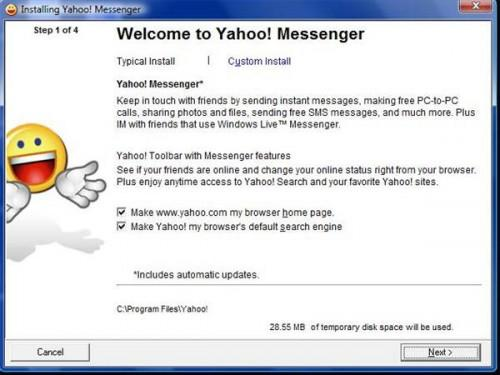 Comment faire pour installer gratuit Yahoo! Messenger Suite
