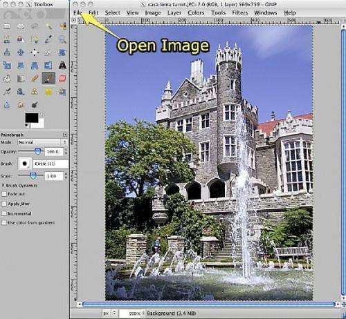 Comment faire pour utiliser l'outil Distorsion dans GIMP Objectif