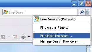 Comment faire pour modifier le réglage par défaut du moteur de recherche d'Internet Explorer