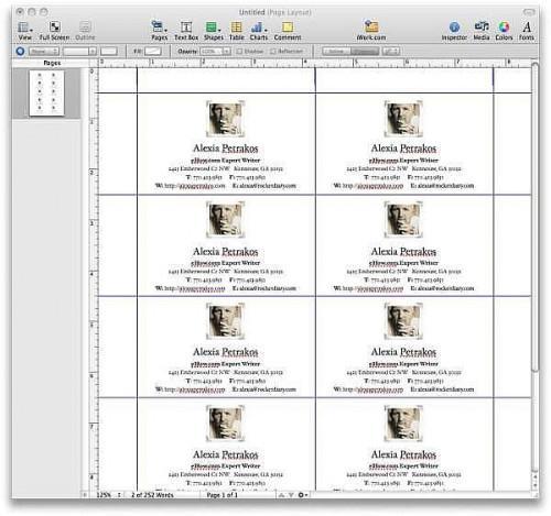 Comment faire des cartes d'affaires Avec Apple Pages '09