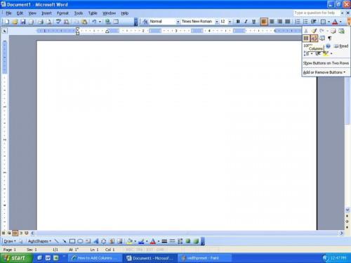 Comment ajouter des colonnes dans Word